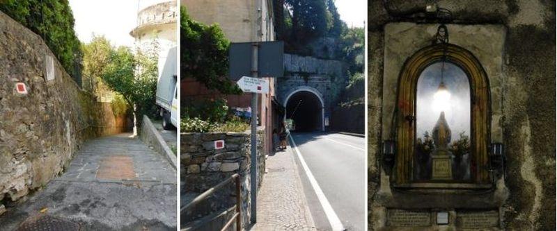 Galleria Ruta di Camogli e vergine del clacson