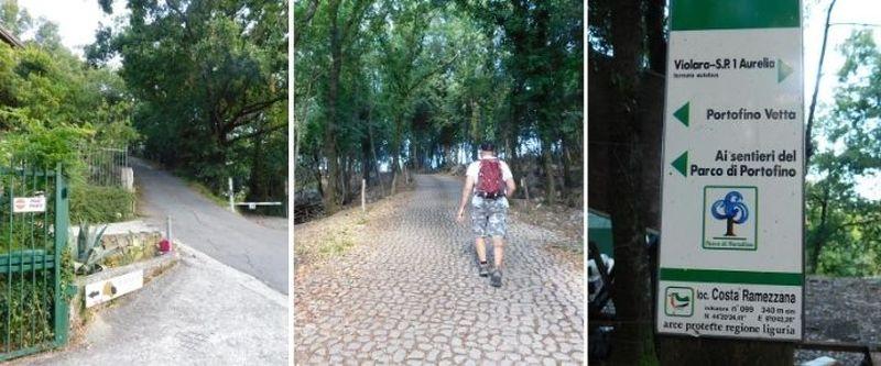 Ai sentieri del parco di Portofino